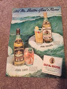 A personal favorite from my Etsy shop https://www.etsy.com/listing/253525153/vintage-liquor-ad
