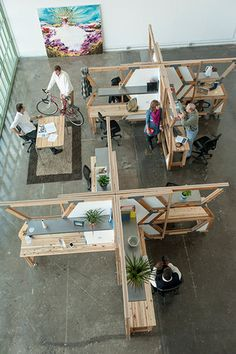 "Modular Office ""Hive"" Made from Salvaged Wood of Derelict Buildings : TreeHugger"