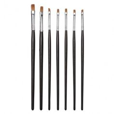 7pcs Acrylic UV Gel Nail Art Design Tips Dotting Painting Polish Pen Brush Set