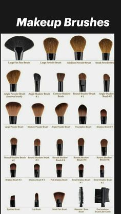 Makeup Brush Uses, How To Wash Makeup Brushes, Eye Makeup Brushes, Eyebrow Makeup, Skin Makeup, Eyebrow Brush, Makeup For Black Skin, Makeup Blending, Makeup Order