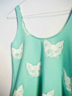 Custom Kitty Tank from @Etsy.