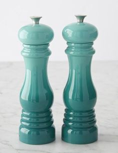 Le Creuset Caribbean Salt and Pepper Mills | Everything Turquoise