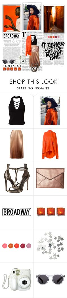 """""""Metallic style"""" by buyureyes ❤ liked on Polyvore featuring Miss Selfridge, Marques'Almeida, Marrakech, Rachel Zoe, Rebecca Minkoff, Cultural Intrigue, Vitra, H&M, Branca and Illesteva"""