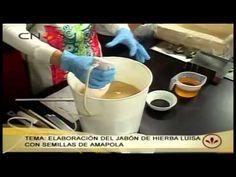 Jabón artesano de hierba luísa y semillas de amapola