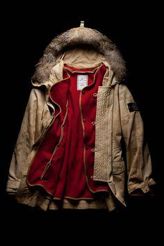Ice Jacket camouflage #parka with detachable inner lining. Stone Island AW 1990-91 #stoneisland