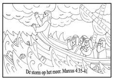 Kleurplaten - Categorie: Jezus.  www.gelovenisleuk.nl