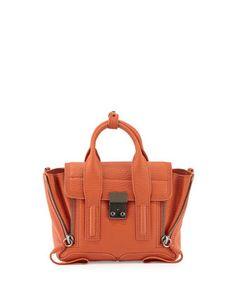 Pashli Mini Leather Satchel Bag, Persimmon by 3.1 Phillip Lim at Neiman Marcus.