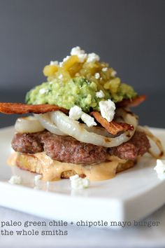 paleo green chile + chipotle mayo burger - the whole smiths
