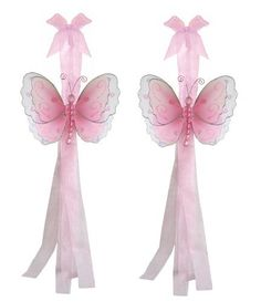 Love these!! Maybe not for the party but for her room in the new house? :)  Pink Multi-Layered Butterfly Curtain Tieback Pair / Set - tiebacks holder sheer tie backs, nylon nursery bedroom girls room ceiling wall decor, wedding birthday party baby bridal shower by Bugs-n-Blooms, http://www.amazon.com/dp/B000XJK9XQ/ref=cm_sw_r_pi_dp_zkwcrb1V2RBXQ