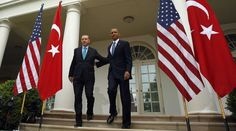 """Turkish Prime Minister Recep Tayyip Erdogan (L) and U.S. President Barack Obama (R) arrive for a joint news conference in the White House Rose Garden in Washington, May 16, 2013. REUTERS/Kevin Lamarque (UNITED STATES - Tags: POLITICS) - RTXZPH7   NATO member state Turkey seems strangely committed to keeping Islamic State going strong in Syria, thus willing to take dangerous risks in confronting Russia in the region. Hopefully cooler heads will prevail, a group of experts told RT.  """"I don't…"""