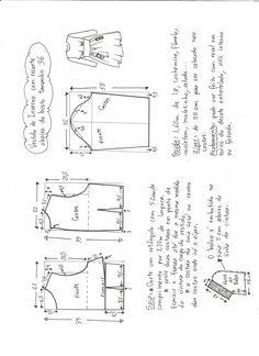 Patrón para confeccionar un Vestido de invierno con corte debajo el pecho. Tallas desde la 36 hasta la 56.
