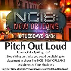 Pitch Out Loud presented by DYNAMICON will be held on April 23rd in Atlanta Ga - Pitch Your Music For TV & Film 10a  5p  Private Location  What to Expect:  Were bringing an expert in music licensing to spend the day talking all things music and licensing in order to help you the music creator get your music placed in television films games & digital media.  What Youll Learn: The Styles of Music Getting Licensed In 2016 Building Your Network in the Sync Community How to Pitch Your Music for…