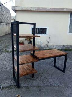 Welded Furniture, Iron Furniture, Furniture Design, Study Table Designs, Dressing Table Design, Side Table Decor, Rustic Desk, Home Desk, Furniture Inspiration