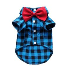Soft Casual Dog Plaid Shirt Gentle Dog Western Shirt Dog Clothes Dog Shirt + Dog Wedding Tie Free Shipping,Blue,S - http://www.thepuppy.org/soft-casual-dog-plaid-shirt-gentle-dog-western-shirt-dog-clothes-dog-shirt-dog-wedding-tie-free-shippingblues/