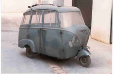 "This sort of an ""Ape-Bus"" is a unique model made by an old bodyguy in southern italy during early 50's. It has been built on a 125 1st series model frame and there are many bits ""stolen"" from some particular car very popular for those years, such as Fiat Topolino and Lancia models. The project did not encounter success so this prototype is the one and the only ""ApeBus"" in the world!! enjoy it!"