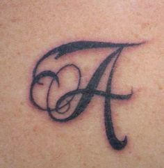 This is my other tattoo I got today. The letter A for my fiance. Who I love and adore so much! We are finally get married this year, after lol Tattoo Alphabet, Alphabet Tattoo Designs, Hand Lettering Alphabet, Alphabet Design, Heart Tattoo Designs, Letter A Tattoo, Mini Tattoos, Body Art Tattoos, New Tattoos
