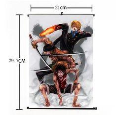Hot Japan Anime One Piece Luffy Zoro Sanji Home Decor Poster Wall Scroll 2130Cm