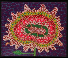 One of Kusama's colorful works entitled 'Flower,' which she made back in 1989. Photo courtesy of Ayala Museum.
