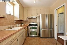 good partial remodel of a '50s kitchen. Redwood Heights