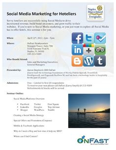 Free hotel social media seminar on April 12th