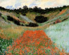 CLAUDE MONET - Poppy Field in a Hollow near Giverny (1885)