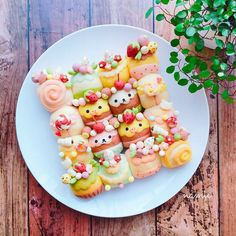 "kawaii-box-co: "" Homemade bread can be cute too - bake your favorite characters into adorable buns! (◕‿◕)♡🍞 Get inspired by Namie's kawaii bread creations that are almost too precious to eat! Cute Food, Good Food, Yummy Food, Cute Desserts, Dessert Recipes, Cute Baking, Kawaii Dessert, Bento Recipes, Rainbow Food"