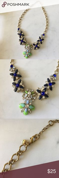 JCrew Statement Necklace This is a preppy statement necklace that has never been worn. I love it! This necklace is very well made. This is a wonder take on the bauble necklace and a great piece for anyone's collection! J. Crew Jewelry Necklaces