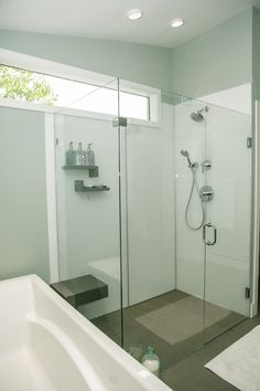 A modern - and easy to install - shower wall panel are these high ...