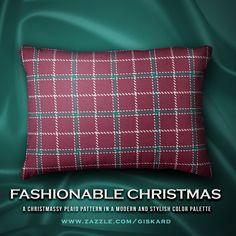 "FASHIONABLE CHRISTMAS...""A Christmassy plaid pattern in a modern and stylish color palette"" #christmas, #xmas, #christmassy, #plaid, #tartan, #modern, #stylish, #buffalocheck, #checkers, #scottishtartan, #plaidpattern, #tartanpattern, #accent, #accesory, #decorative #decorativepillow #accentpillow #pillow #cushion #interiordesign #zazzle #zazzler #zazzleshop #digitalartcreations"