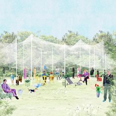 a place under a canopy public space intervention cincinnati, usa september 2013 competition proposal FALA Atelier