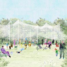 a place under a canopy public space intervention cincinnati, usa september 2013 competition proposal FALA Atelier
