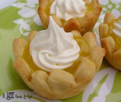 Lemon Cream Cheese Tarts - great step by step instructions
