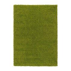 IKEA - HAMPEN, Tæppe, lang luv, 133x195 cm, , Tæppet er fremstillet af syntetiske fibre og er slidstærkt, pletafvisende og nemt at vedligeholde.Den lange luv gør det nemt at lægge flere tæpper ved siden af hinanden uden synlige samlinger.