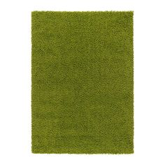 HAMPEN Rug, high pile - bright green, 133x195 cm - IKEA, £30. Like for living room if not wood floor and white rug
