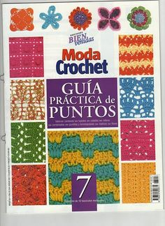 Free crochet motif, square and stitch diagram, chart patterns.