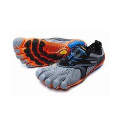 V-RUN Mens Grey Blue Orange Vibram Fivefingers 45855b3827