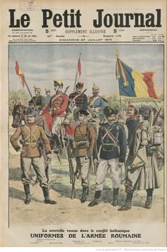The Roumanian Army from Le Petit journal, Supplement de Dimanche July 1913 Magazin Covers, French School, World War One, Historical Pictures, Military History, Art Reproductions, Gifts In A Mug, Poster Size Prints, Photo Wall Art