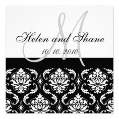 Discount DealsMonogram Damask Wedding invitationonline after you search a lot for where to buy