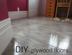graywash plywood floors