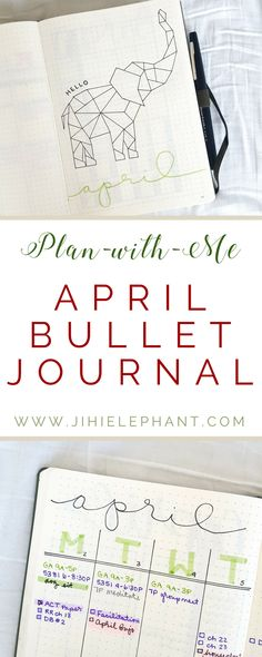 Did you know that this month there is an Elephant Day! Yes, April 16th is Elephant Day! To celebrate Elephant Day AND spring, this month's bullet journal plan-with-me theme is Elephants and the color green. Keep reading to see my layouts and read more about my inspirations.