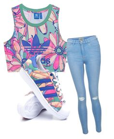 """done"" by skylarblanding on Polyvore featuring adidas Originals, New Look and adidas"