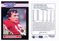 Joe Montana 1989 Kenner NNO Starting Lineup