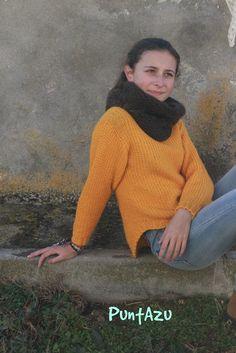 Tutorial de punto arena. sencillo y fácil Cuellos Tejidos A Crochet ae2cf7d947e