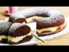 SCHOKO-CHEESECAKE-KRANZ | Savarin-Käsekuchen - YouTube