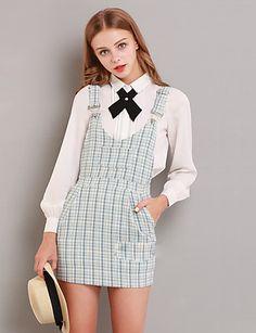 Damen Solide Einfach Ausgehen Hemd,Hemdkragen Herbst Langarm Weiß Polyester Mittel 5281072 2017 – €23.51