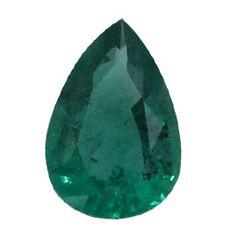0.85 ct Pear Shape Emerald Fine Green -Gold Crane & Co.