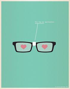 Vaaleanpunaiset silmälasit rules!