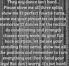 Ya people who say dance isn't hard come up to our level and try to do this!