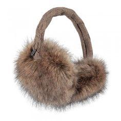 Barts Fur Earmuffs heather brown