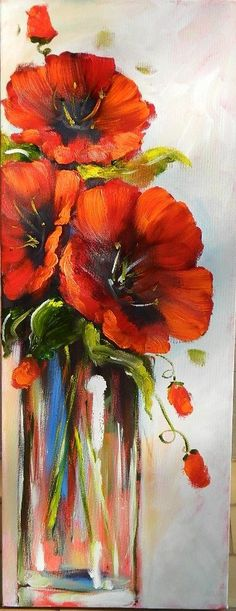 What To Search For Right Before You Purchase Your Higher Than Floor Pool Rode Klaprozen Abstract Flowers, Watercolor Flowers, Watercolor Paintings, Watercolors, Painting Inspiration, Art Pictures, Painting & Drawing, Flower Art, Art Projects